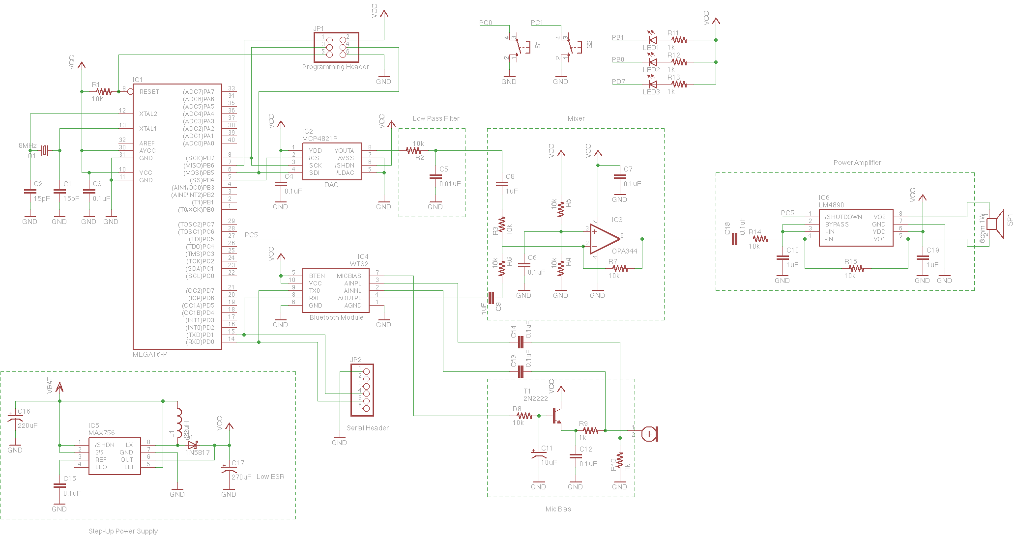 Bluetooth Star Trek Communicator Circuit Diagram Of Device